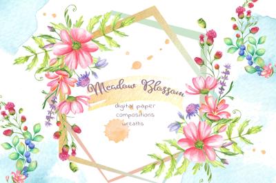 Meadow Blossom Watercolor