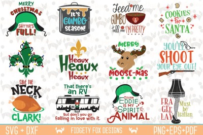 Christmas Svg Bundle, Dxf Eps Pdf Png Holiday Bundle