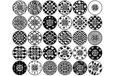 Circle Monogram Frames SVG Files. Circles Patterns SVG PNG.