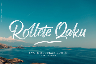 Rollete Qaku SVG & Regular Fonts
