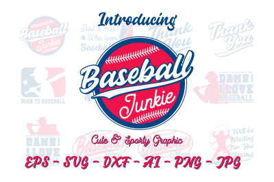 Cute & Sporty Graphic - Baseball edition