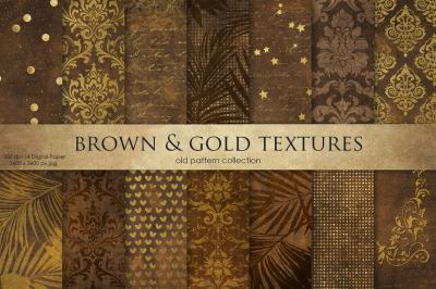 Vintage Brown & Gold Textures