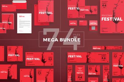 Design templates bundle | flyer, banner, branding | Wine Festival