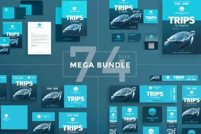 Design templates bundle | flyer, banner, branding | Tropics Travel