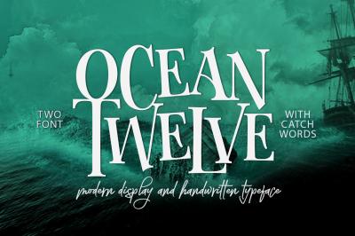 Ocean Twelve Font Duo + Extras