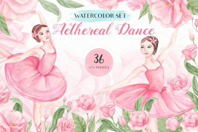 Aethereal Dance - Watercolor Set