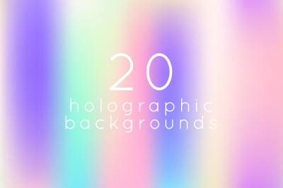 20 horizontal holographic backgrounds