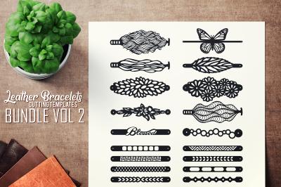 Leather Bracelets SVG - VOL II BUNDLE - Cutting Templates