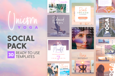 Unicorn Yoga - Social Pack
