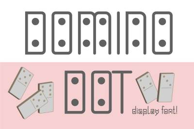 Domino-dot font
