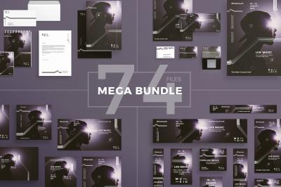 Design templates bundle | flyer, banner, branding | Live Music Concert