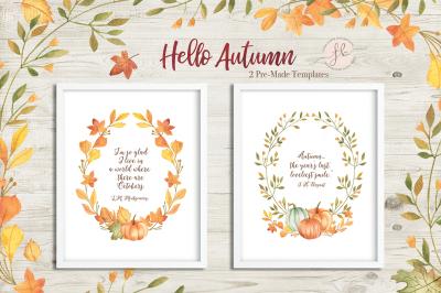 Hello Autumn Pre-Made Templates
