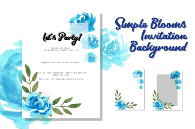 Simple Blooms Invitation Background