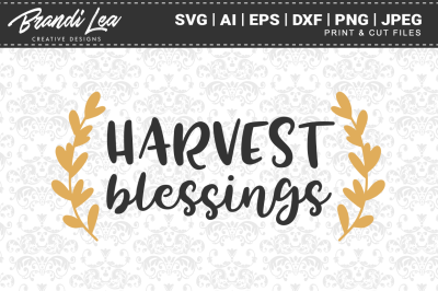 Harvest Blessings SVG Cutting Files