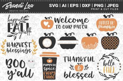 12-in-1 Fall Bundle SVG Cutting Files