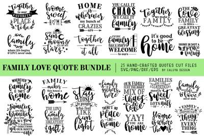 Family Love Quote SVG Cut Files Bundle