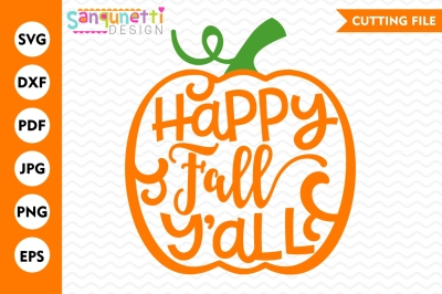 Happy Fall Y'all SVG, pumpkin svg, Fall svg