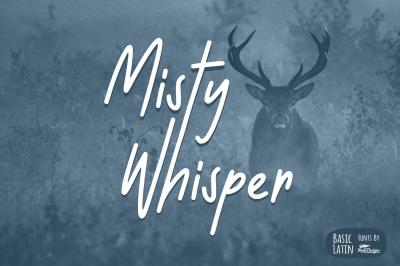 Misty Whisper Font