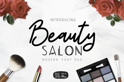 Beauty Salon Modern Font Duo