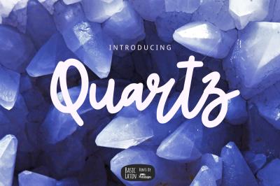 Quartz Bold Line Script