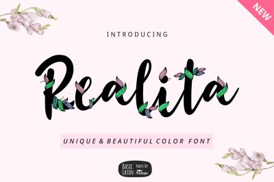 Realita Color Font