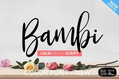Bambi Font + Extras