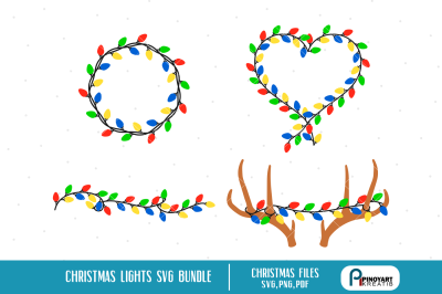 christmas lights svg, christmas svg, christmas svg file, christmas png