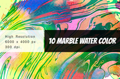 10 marble water color backgrounds