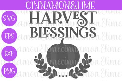 Harvest Blessings Thanksgiving Wood Sign SVG