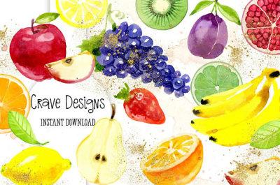 Summer Fruits Clip Art