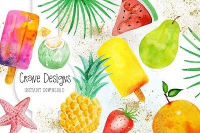 Exotic Fruits Clip Art