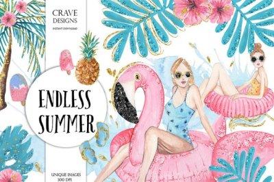 Endless Summer Clip Art