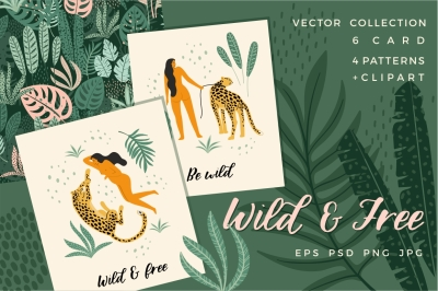 Wild & Free. Vector collection.
