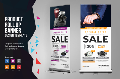 Product Rollup Banner Signage