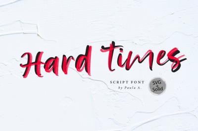 Hard Time + SVG Font