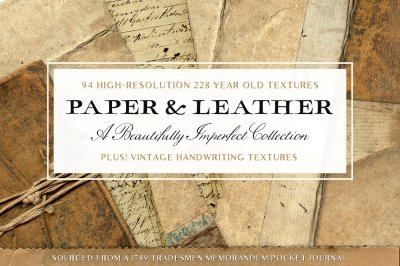 94 Vintage Leather & Paper Textures