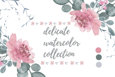 Delicate watercolors collection