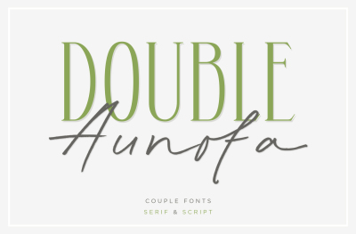 Double Aunofa - Couple Fonts