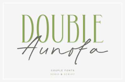Double Aunofa - Couple Fonts