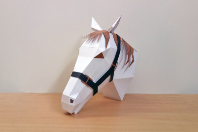 DIY Horse Trophy - 3d papercraft