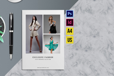 Minimal Fashion Product Display Brochure/Catalog