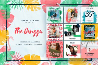 CANGGU-Tropical Social Media Brand Pack