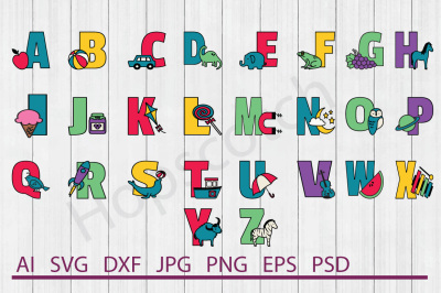 Alphabet Bundle, SVG Filex, DXF Files, Cuttable Files