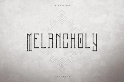 Melancholy Display Typeface + Extra
