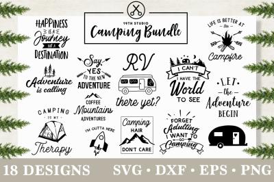 Camping SVG Bundle - SVG DXF EPS PNG | M3