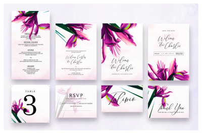 Flower Invitation Suite As.6