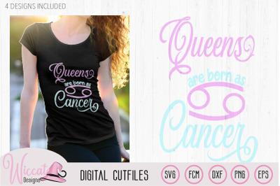 Cancer zodiac svg, Queen born in July svg
