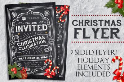 Chalk Christmas Flyer Template