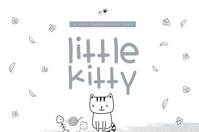 Little Kitty - A Cute Handwritten Font