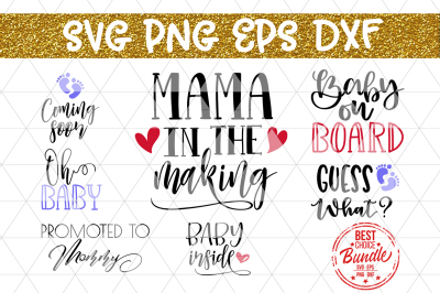 Birth Announcement SVG Bundle, New Baby SVG, EPS DXF PNG